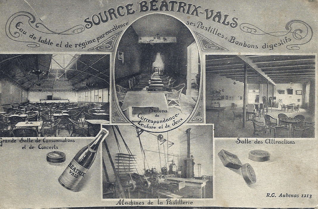 carte ancienne Pastilles de Vals