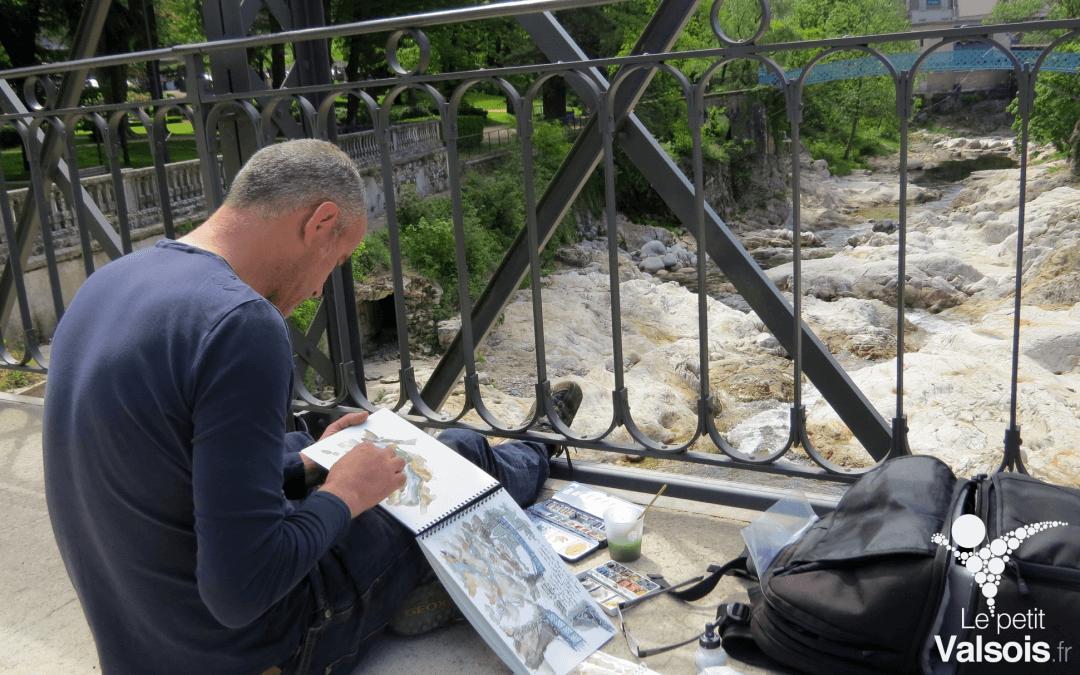 Nicolas Roux croque le patrimoine de Vals-les-Bains