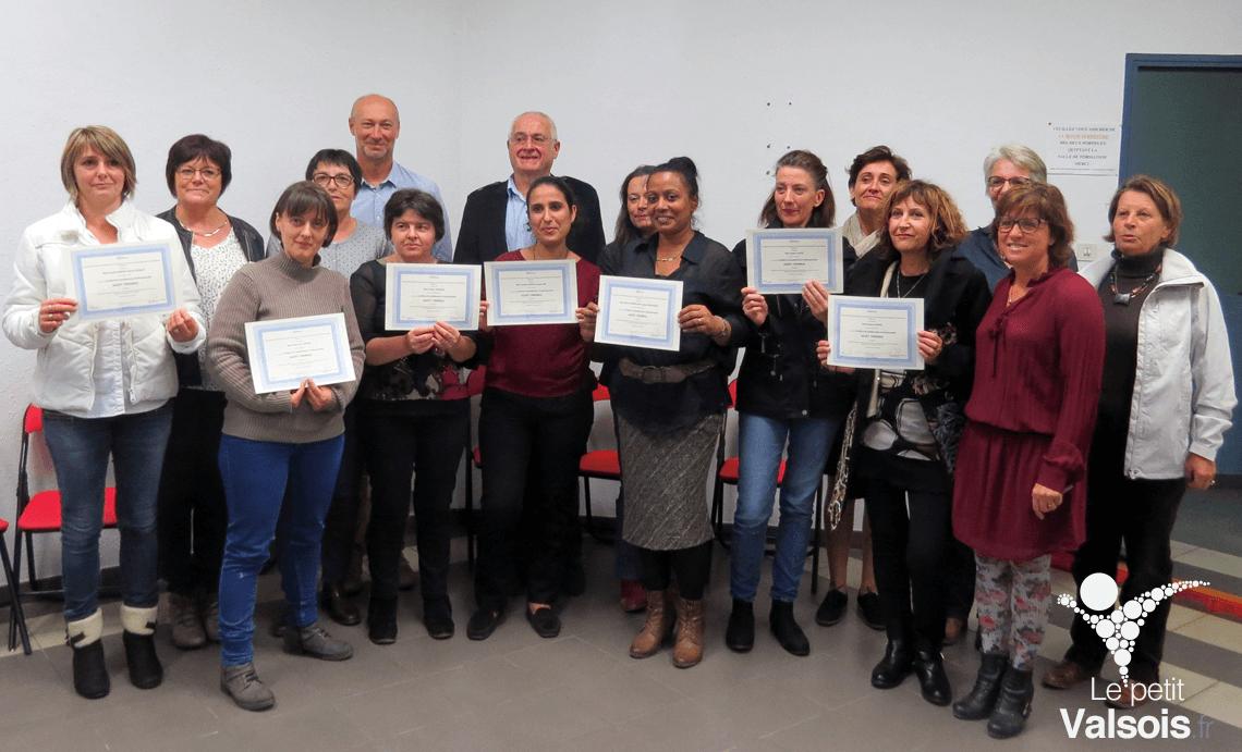 Remise de diplômes aux agents thermaux de Vals-les-Bains