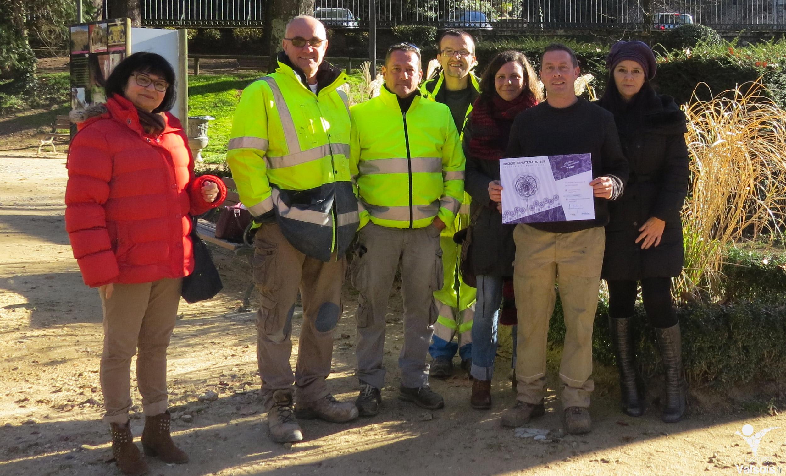 Vals-les-Bains obtient le premier prix départemental 2016 Paysage et cadre de vie
