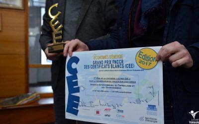 Le SITHERE reçoit le 1er prix des certificats d'économie d'énergie de la FNCCR