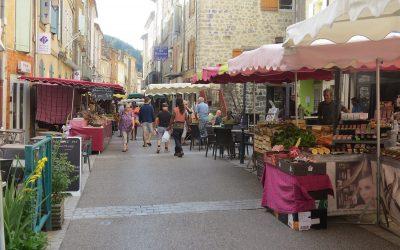 Les marchés à Vals-les-Bains