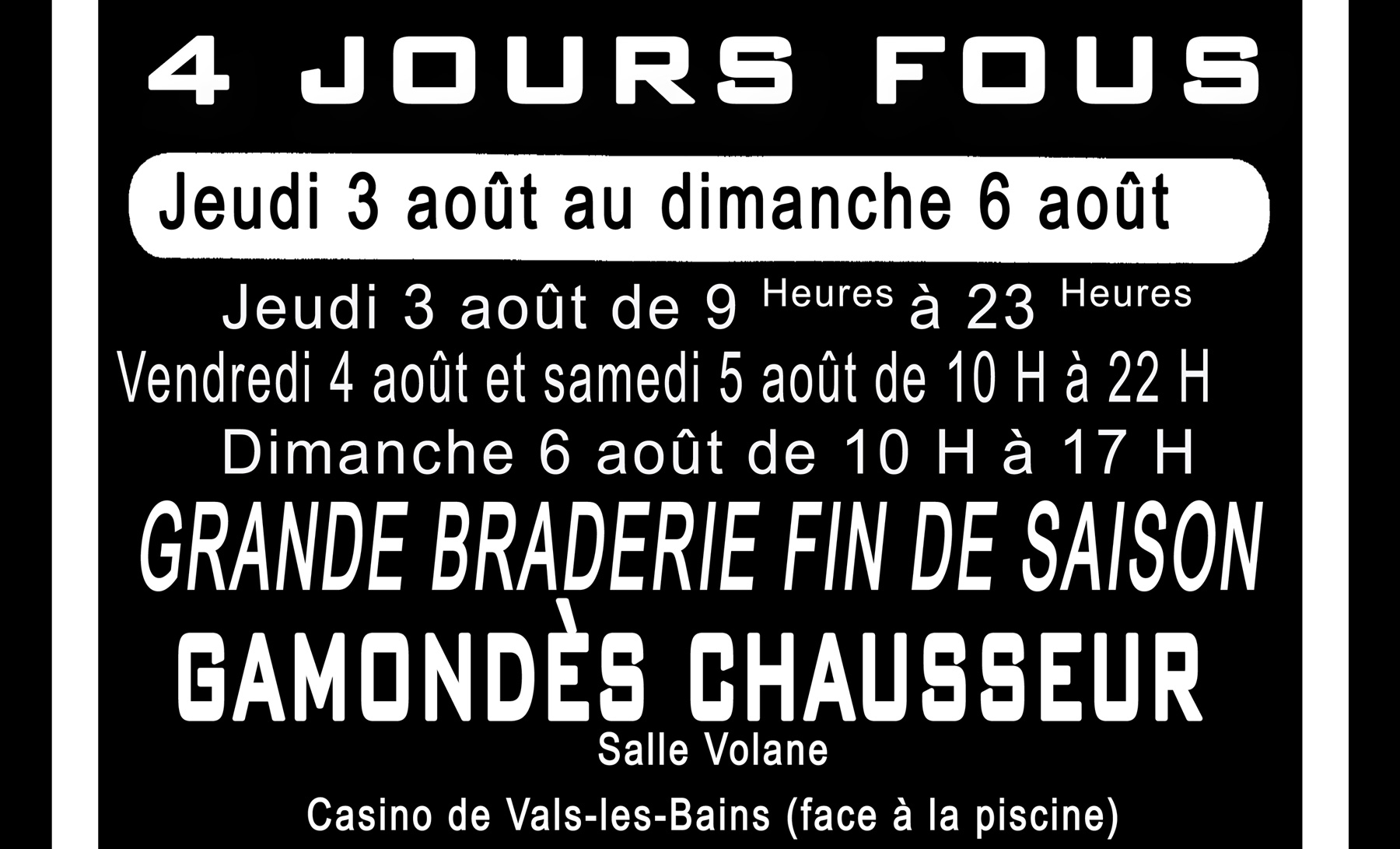 Grande braderie à Vals-les-Bains