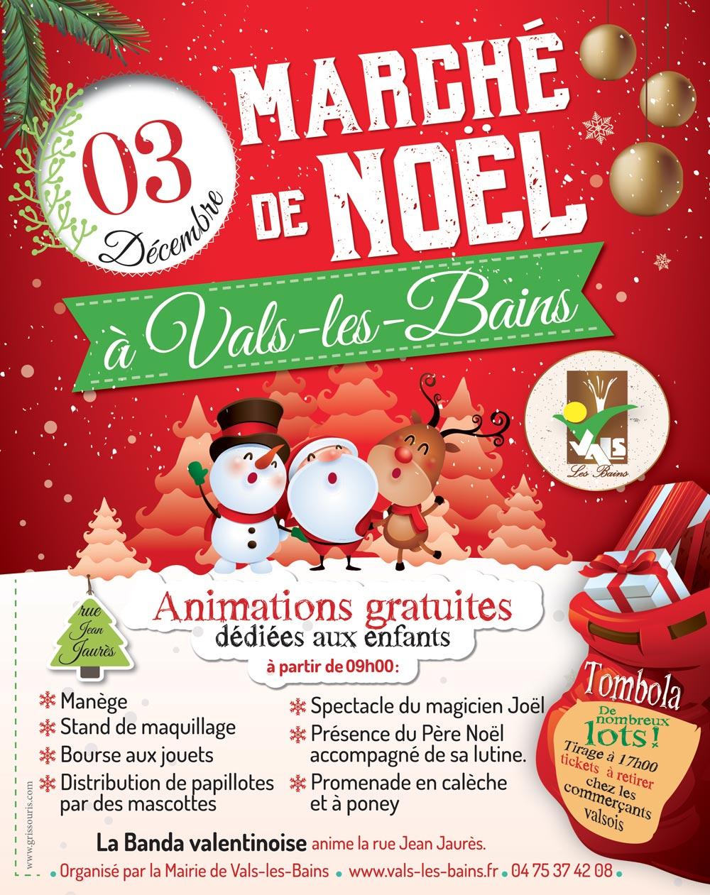 Affiche Marché de Noël Vals-les-Bains
