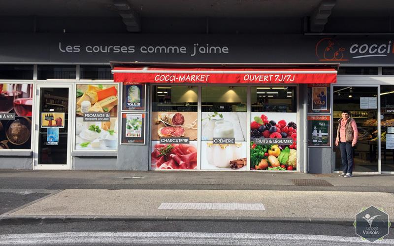 Devanture Cocci Market Vals-les-Bains