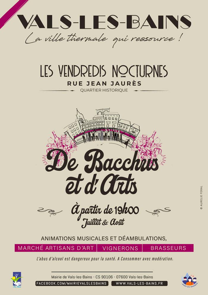 Affiche Bacchus et d'Arts
